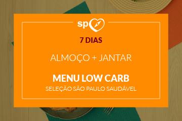 Low Carb -  São Paulo Saudável - Almoço e Jantar - 7 dias