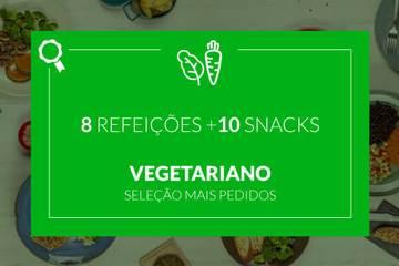 Mais Pedidos: Vegetariano - 8 refeições e 10 snacks