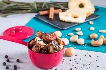 Mix de castanhas Thai com abacaxi (apimentado) + Castanha de caju + Amendoim + Macadâmia