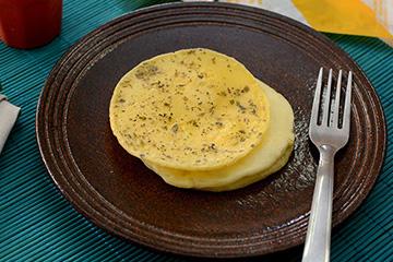 Crepioca com queijo branco
