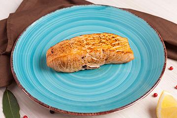Posta de salmão assado